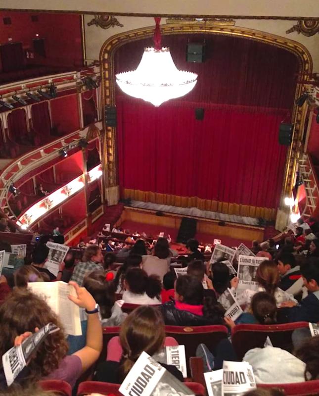 En el teatro Principal de Vitoria